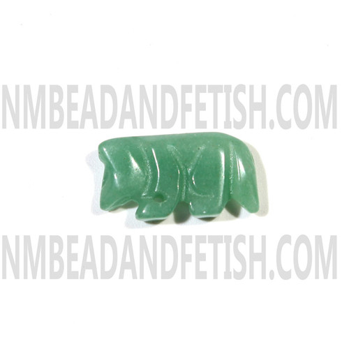 Adventurine Wolf Fetish Bead