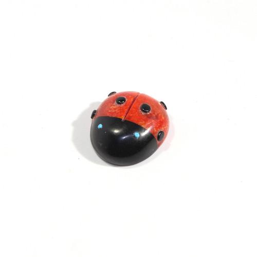 Georgette Lunasee Ladybug Fetish | Black Marble and Coral