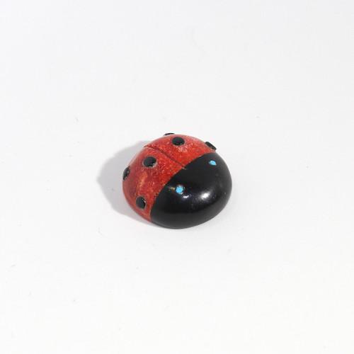 Georgette Lunasee Ladybug Fetish | Black Marble and Coral #3