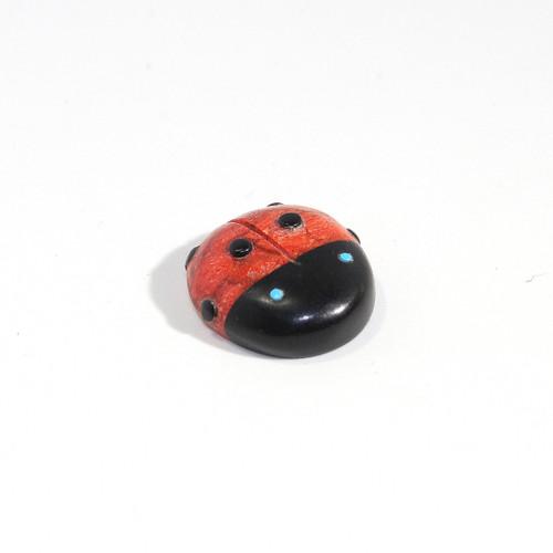 Georgette Lunasee Ladybug Fetish | Black Marble and Coral #4