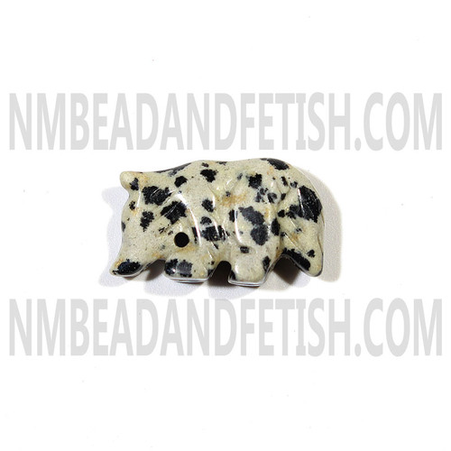 Dalmatine Jasper Wolf Fetish Bead