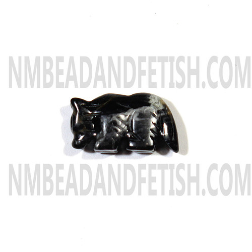 Picasso Marble Wolf Fetish Bead