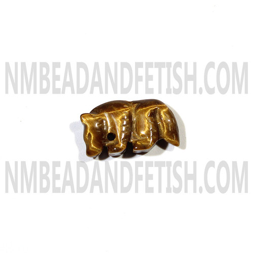 Tiger Eye Wolf Fetish Bead