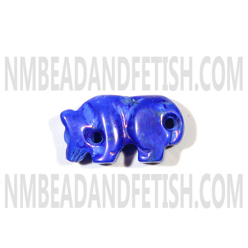 Dyed Lapis Howlite Mountain Lion Fetish Bead