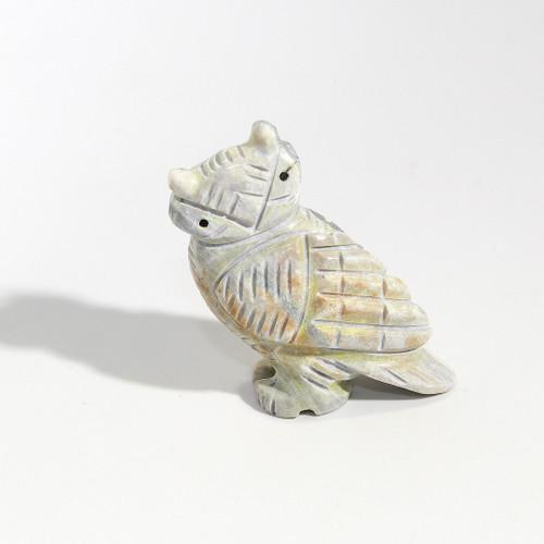 Albert Livingston Owl Fetish   Picasso Marble