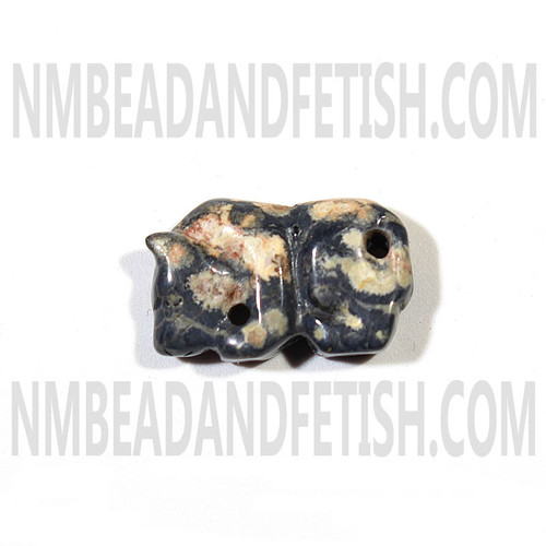 Leopard Skin Jasper Mountain Lion Fetish Bead