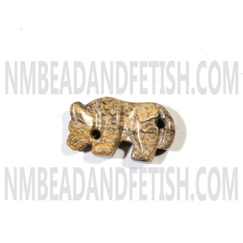 Picture Jasper Mountain Lion Fetish Bead