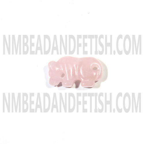 Rose Quartz Mountain Lion Fetish Bead
