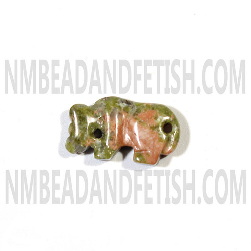 Unakite Mountain Lion Fetish Bead