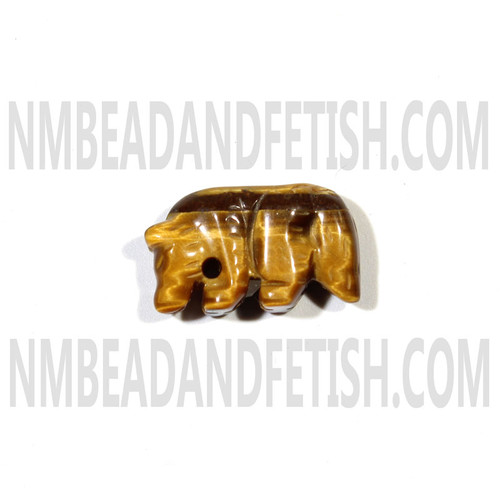 Tiger Eye Mountain Lion Fetish Bead