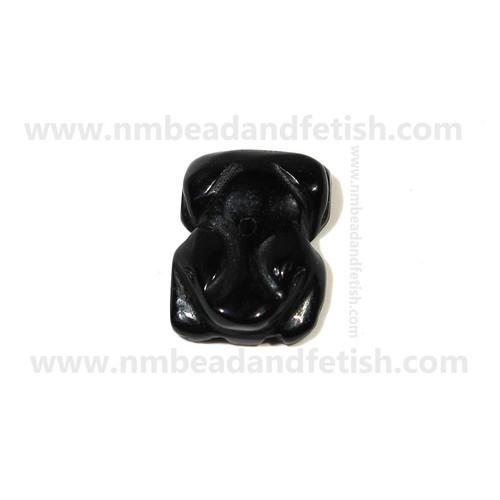 Black Stone Frog Fetish Bead