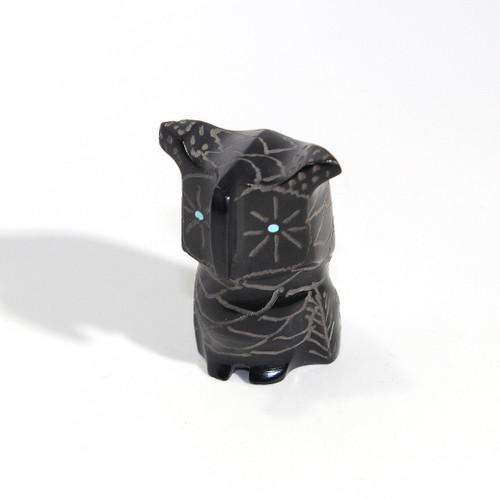 Roselle Shack-Gonzales Owl Fetish   Black Marble