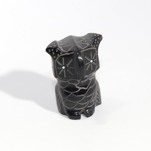 Roselle Shack-Gonzales Owl Fetish   Black Marble #2