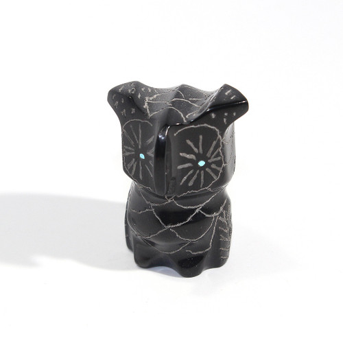 Roselle Shack-Gonzales Owl Fetish   Black Marble #4
