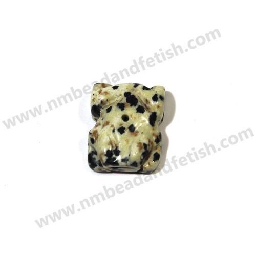 Dalmatine Jasper Frog Fetish Bead