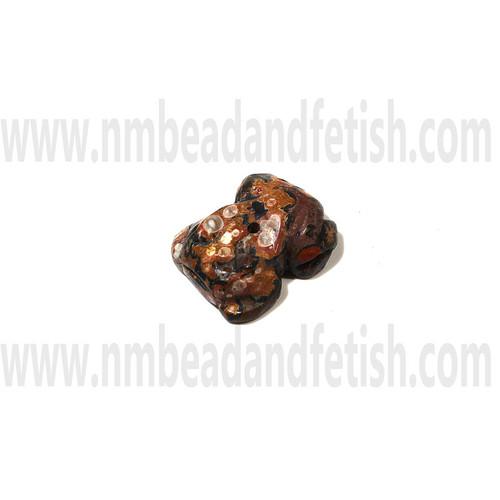 Leopard Skin Jasper Zuni frog Fetish Bead
