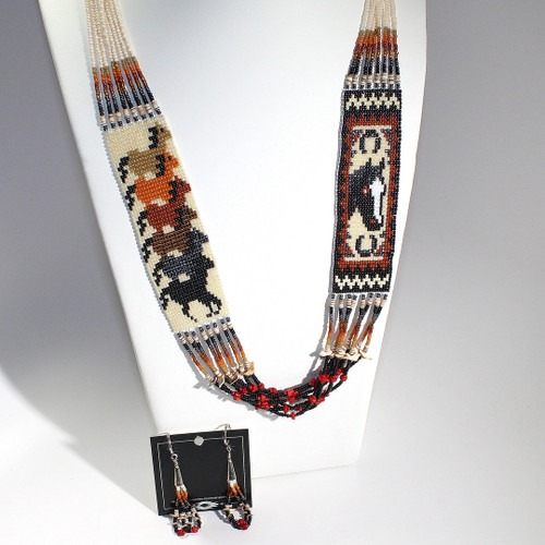 Dennis Dennison Double Horse Necklace Set