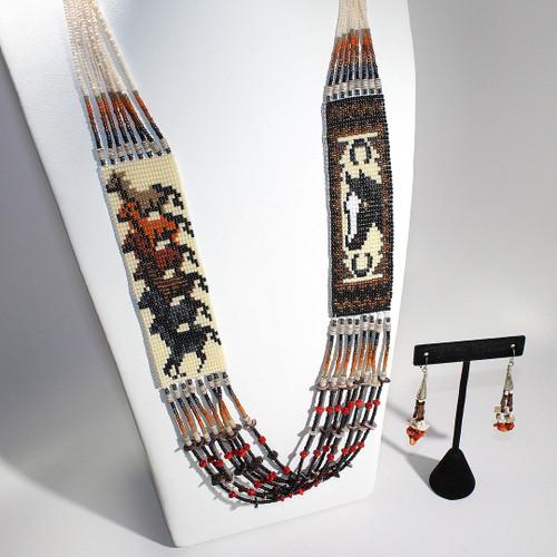 Dennis Dennison Double Horse Necklace #3