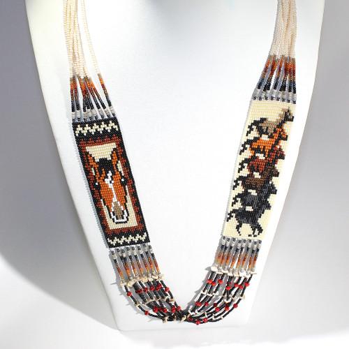 Dennis Dennison Double Horse Necklace #4