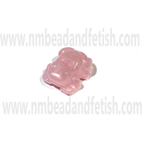 Rose Quartz Zuni frog bead