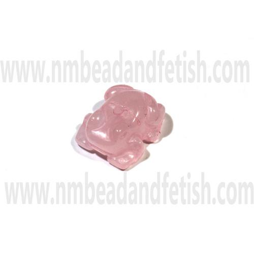 Rose Quartz Zuni frog bead