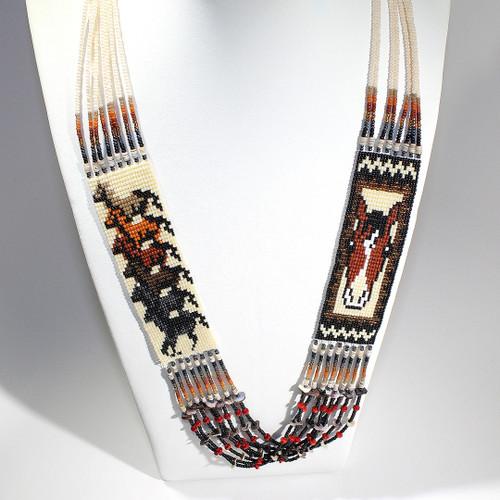 Dennis Dennison Double Horse Necklace #5