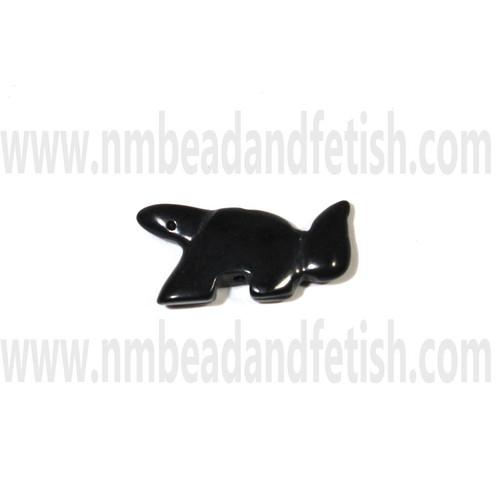Black Stone Squirrel Bead