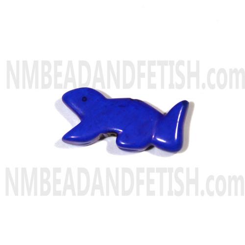 Dyed Lapis Squirrel Zuni bead