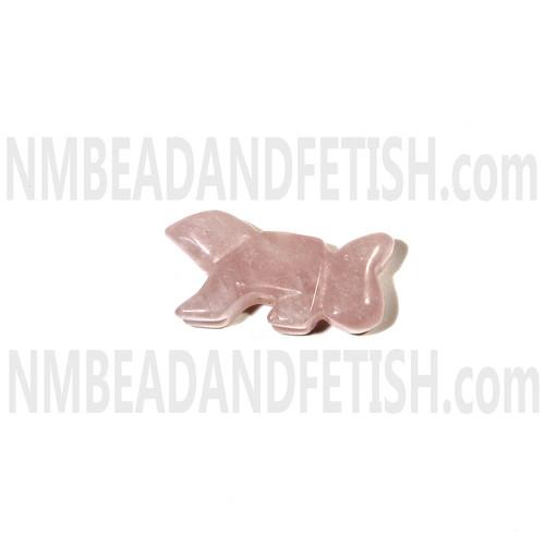 Rose Quartz Zuni Squirrel Beads