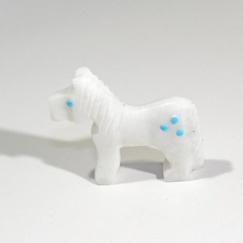 Todd Etsate Horse Fetish | White Marble #2