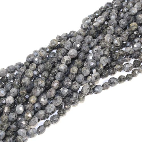 Black Labradorite Pebbles - Faceted | Wholesale $6.50