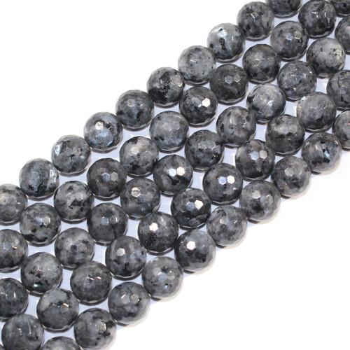 12mm Faceted Black Labradorite Rounds | $14 Wholesale