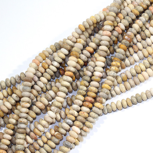 8mm Indonesian Fossil Coral Rondelle | $10 Wholesale