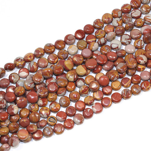 8-10mm Noreena Jasper Coins | $15 Wholesale