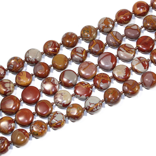 14-16mm Noreena Jasper Coins | $20 Wholesale