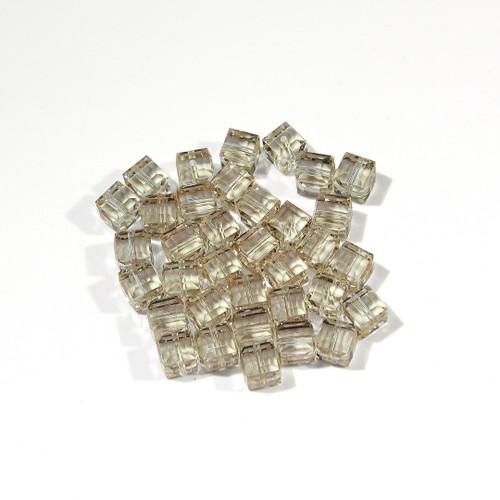 Swarovski Cube Bead | 6mm | Cantaloupe