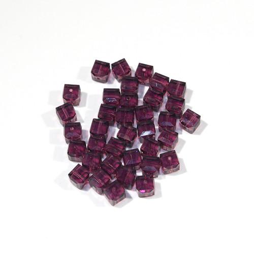 Swarovski Cube Bead | 6mm | Amethyst