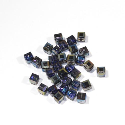 Swarovski Cube Bead | 6mm | Heliotrope