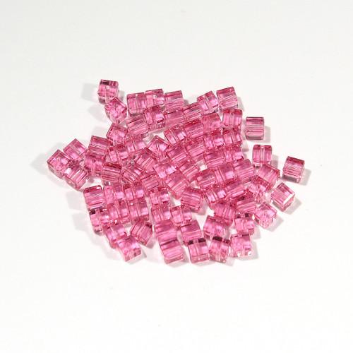 Swarovski Cube Bead | 4mm | Rose
