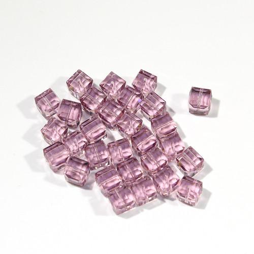 Swarovski Cube Bead | 8mm | Light Amathyst