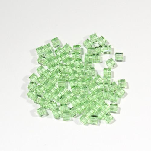 Swarovski Cube Bead | 4mm | Peridot