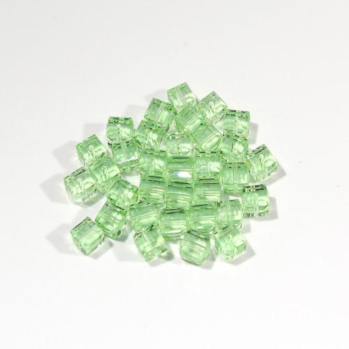 Swarovski Cube Bead | 6mm | Peridot