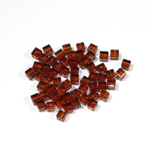 Swarovski Cube Bead | 4mm | Topaz