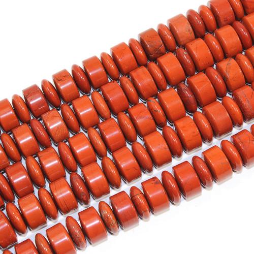 16mm Red Jasper Rondelle Barrel | $26 Wholesale