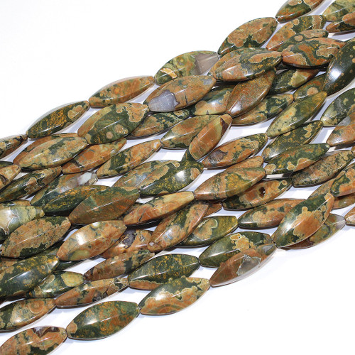 Rhyolite Marquise 31x12mm | $10 Wholesale
