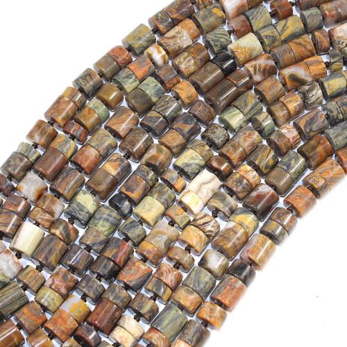 Mushroom Rhyolite Cylinder Beads | $16 Wholesale