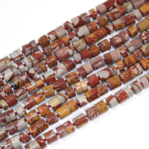 Noreena Jasper Cylinder Beads | $16 Wholesale