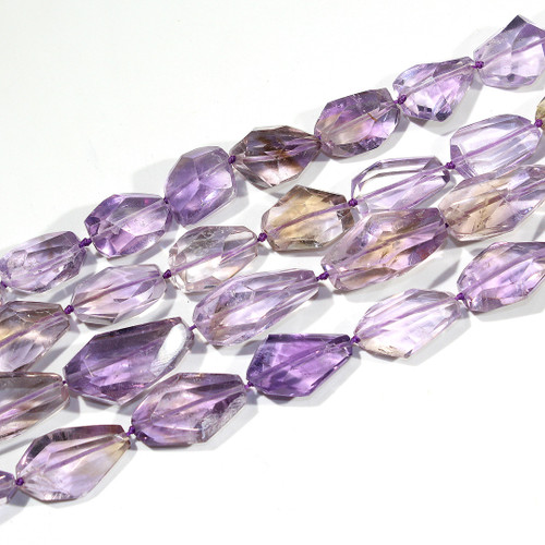 Small Ametrine Faceted Nuggets