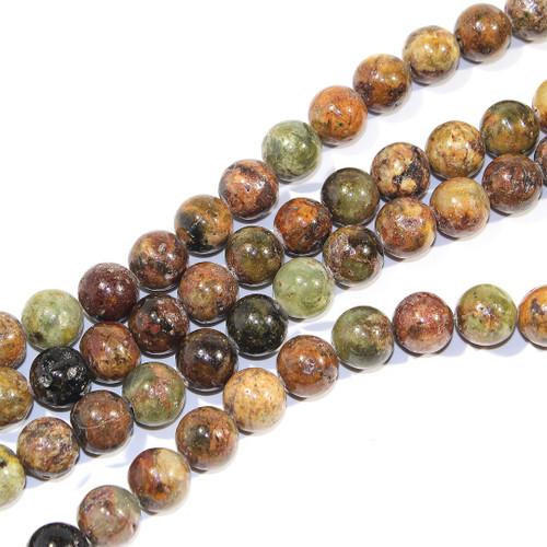 12mm Green Garnet Rounds