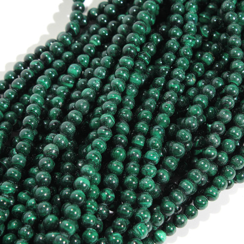 Malachite Rounds 9-10mm